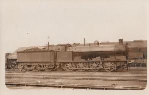 LNWR G-2A Class 7F 0-8-0 No 2287 Antique Real Photo Train Postcard