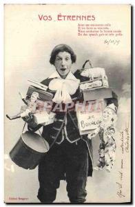 Postcard Old Pig Pig Etrennes Your Puppet