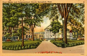 MA - Springfield. Court Square & Congregational Church