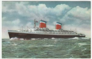 Shipping; Liner SS United States PPC By Steelograph, Unposted, c 1950's