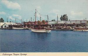 Scene along the Sponge Fleet Docks on the Anclote River, Tarpon Springs, Flor...