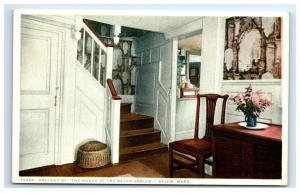 Postcard Hallway of The House of the Seven Gables, Salem, MA C23