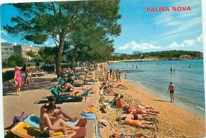 Old Vintage Postcards Beach Palma Nova Spain # 2246A
