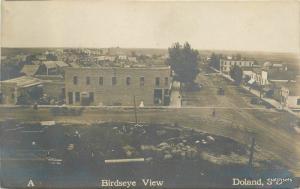 Birdseye View C-1910 Spink County Doland South Dakota RPPC real photo 7121