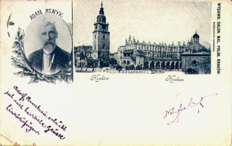 1899 - Polish Freedom Fighter and Poet Adam Asynk