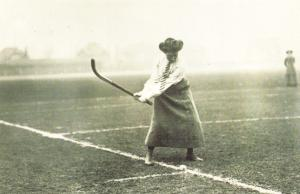 Nostalgia Postcard 1911 Miss Balfour playing Hockey Reproduction Card NS24