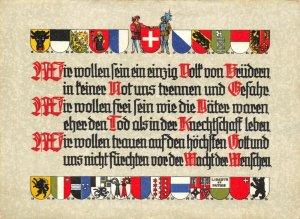 Switzerland Postcard, Swiss State Exhibition 1939, Zurich, Coats of Arms GO1