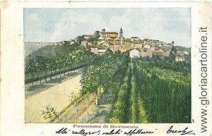 CARTOLINA d'Epoca:  PAVIA:  RAVERSCALA - PANORAMA 1902