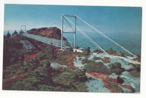 NC Grandfather Mountain Linville Peak Mile High Swinging Bridge Vtg Postcard