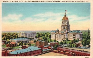 Springfield, IL, State Capitol, Centennial Bldg., 1931 Vintage Postcard g8347