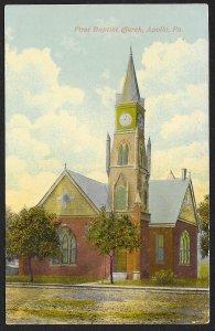 First Baptist Church Apollo Pennsylvania Used c1912