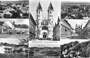 Amstetten Neideroesterreich, Kirche Church Street Auto Cars Lake Panorama