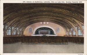 Ohio Lakeside Interior Of Auditorium On Lake Erie 1946 Curteich