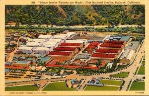 California Burbank First National Studios Curteich