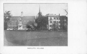 Cambridge Massachusetts~Radcliffe College~Women's Harvard~Liberal Arts~1905 B&W
