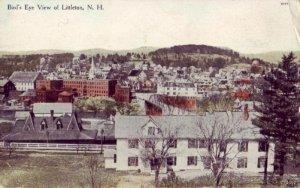 BIRD'S EYE VIEW OF LITTLETON, NH publishe by Eli B. Wallace