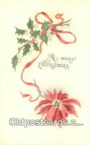 Christmas Postcard, Post Card Old Vintage Antique Carte, Postal Postal 1917