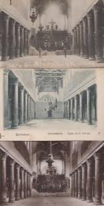 Basilica Bethlehem Nativitiy Military Guard 3x Antique Postcard s