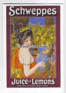 ad0476 - Schweppes Juice Of Lemons, Enjoy With Soda -  Modern Advert Postcard