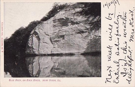 Illinois Dixon Blue Rock On Rock River 1907