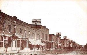 TEKAMAH NE Main Street Scene Merchants Hotel Vintage Nebraska Postcard 1908