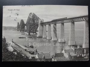 The Forth Bridge c1904 showing Ferry Paddle Steamer & Steam Loco on Bridge