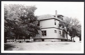 Manitoba CLEARWATER Avery's Summer Resort - RPPC Real Photo Postcard 1940s