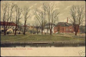 sweden, MOTALA, Kanalbanken med Nya Badhuset (ca. 1905)