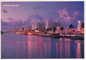 Florida Miami Beach Beautiful Miami Beach Looking North On Indian Creek