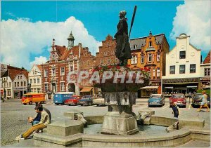 Modern Postcard Husum Rathaus Marktplatz
