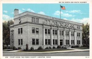 F7/ Lewiston Idaho Postcard c1910 Ne Perce County Court House