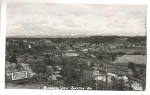 Shelton WA Washington Birdseye Chevrolet Billboard Ellis 7216 RPPC Postcard E8