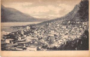 Juneau Alaska Birds Eye View Antique Postcard J51683
