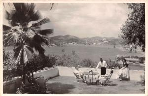 St Thomas Virgin Islands~Lunche On A Hotel Terrace~Time Goes Quickly RPPC 1957