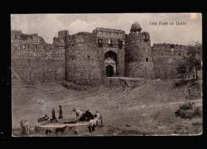 035271 INDIA Old Fort DELHI & well Vintage photo PC