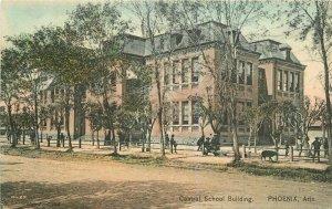 Central School Building Phoenix Arizona C-1910 Postcard 8002