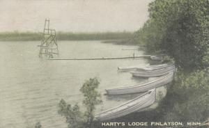 FINLAYSON, Minnesota, 1937 ; Harty's Lodge, Row boats