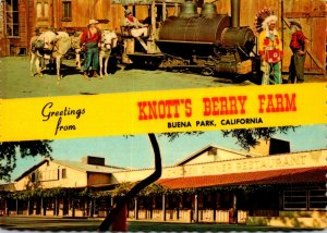California Buena Vista Greetings From Knott's Berry Farm 1984
