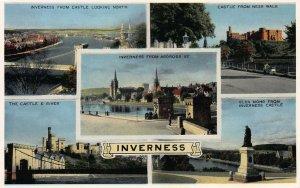 5 Views of Inverness, Scotland, Great Britain, Vintage Postcard, Unused