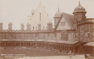 Horseshoe Cloisters Windsor Castle Antique Real Photo Postcard