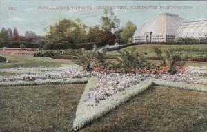 Illinois Chicago Floral Scene Opposite Conservatory In Washington Park
