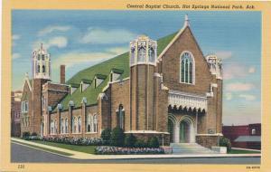 Central Baptist Church at Hot Springs National Park AR, Arkansas - Linen