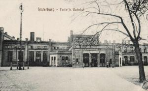 russia germany, INSTERBURG CHERNYAKHOVSK, Railway Station (1915) East Prussia