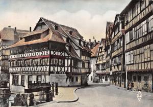 Vintage 1957 RP France Postcard Strasbourg, Bas-Rhin, La Petite France K78