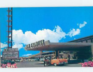 1950's OLD CAR AT THE NEW FRONTIER CASINO HOTEL Las Vegas Nevada NV F7035