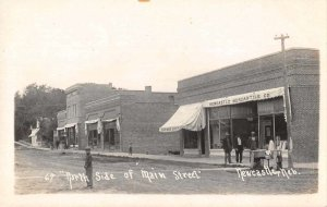 Newcastle Nebraska Main Street Real Photo Vintage Postcard JI658560