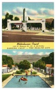 Motorhaven Court, Banning, CA Postcard *5Q15