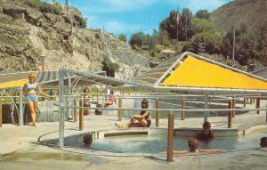Lava Hot Springs Idaho Mineral Pool Vintage Postcard K83987