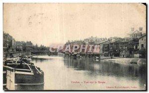 Old Postcard Verdun Meuse View sue Libeairie Martin lardvelle Verdun