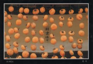Korea - Persimmons being dried in autumn